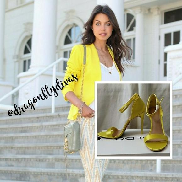 896f6299c30 Aldo Shoes - Aldo Sexy Strappy Sandyy Yellow Sandals NIB!